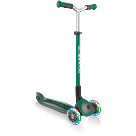 Globber Master Lights Scooter with LED Wheels Kids, zielony